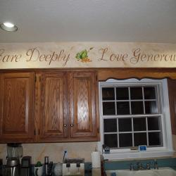 Inspirational Words - Inspirational words added to the side walls give the occupants something to consider as they sip their wine. -