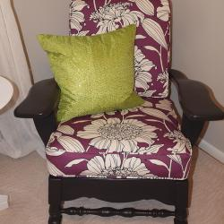 New Look for an Old Chair - An heirloom chair gets a fun facelift and a pop of color to get noticed in it's corner of the bedroom. -