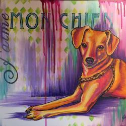 JACKSON: Custom Dog Portrait - Custom design canvas for Dog Owner. -