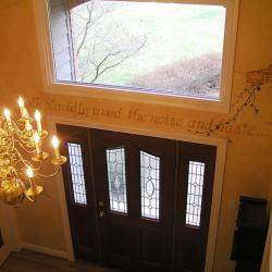A Grand Entrance (and Exit) - A view from the upper balcony (hallway). -