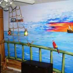 Ahoy! Come aboard the Pirate Ship and view the sunset