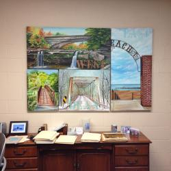 The 4 paintings were hung jointly as a collage