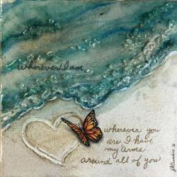 Shattered Glass, Sandstone & Epoxy create this special memory of a loved one