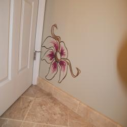 Simple Modern Floral accent for a remodeled bathroom