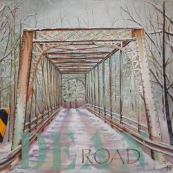 1 of 4 paintings - An Aging Winter Bridge