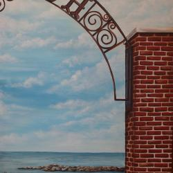 3 of 4 paintings - Summertime Classic Arch