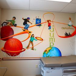 """Time To Exercise"" Pediatric Exam Room - Streetsboro, OH"