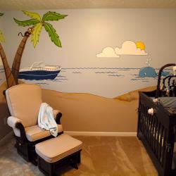 """Tropical Getaway"" nursery - including Grandpa's boat"