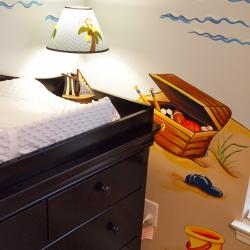 """Tropical Getaway"" nursery - important treasures for this little boy"
