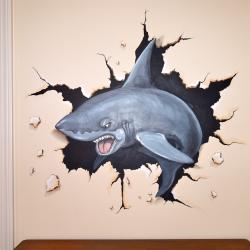 Shark Attack…right through the bedroom wall