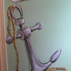 Pirate Ship Bedroom - Details on opposite wall